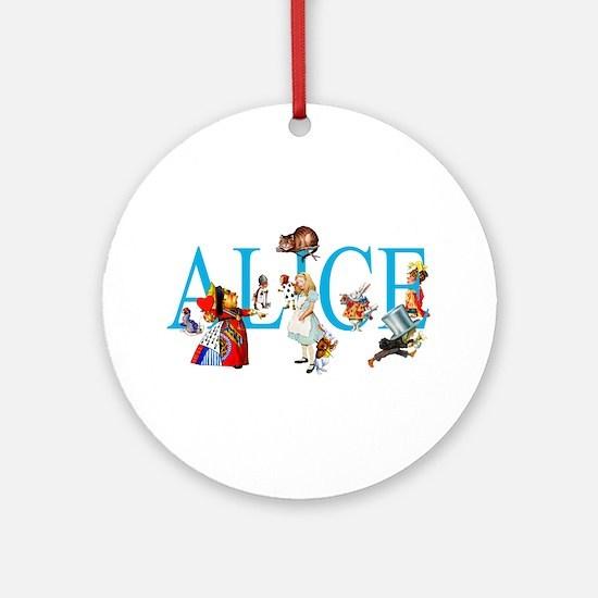 ALICE & FRIENDS IN WONDERLAND Ornament (Round)