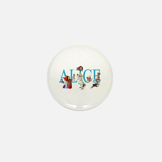 ALICE & FRIENDS IN WONDERLAND Mini Button