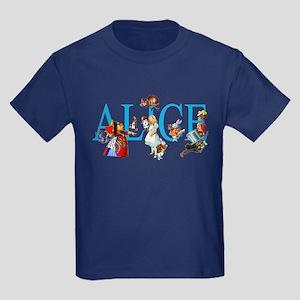ALICE & FRIENDS IN WONDERLAND Kids Dark T-Shirt