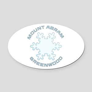 Mount Abram - Greenwood - Maine Oval Car Magnet