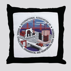 Ironworker Patch Throw Pillow