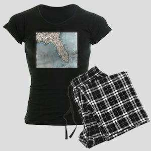 Vintage Map of Florida (1900) Pajamas