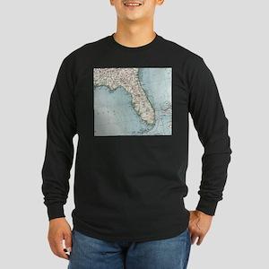 Vintage Map of Florida (1900) Long Sleeve T-Shirt