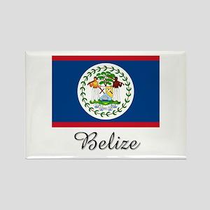 Belize Flag Rectangle Magnet
