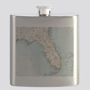 Vintage Map of Florida (1900) Flask