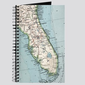 Vintage Map of Florida (1900) Journal
