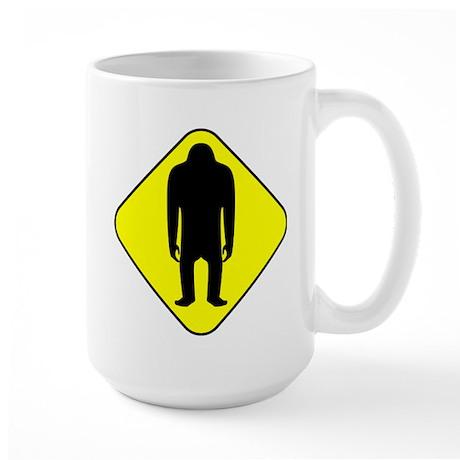 Sasquatch Road Sign Large Mug