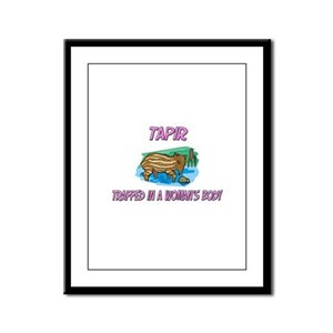 Tapir Trapped In A Woman's Body Framed Panel Print