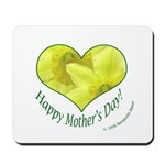 Daffodils in Heart, Mother's Day Mousepad