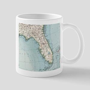 Vintage Map of Florida (1900) Mugs