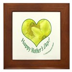 Daffodils in Heart, Mother's Day Framed Tile