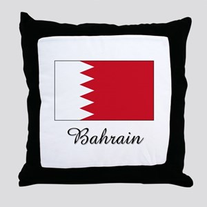 Bahrain Flag Throw Pillow