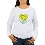Daffodils in Heart, Mother's Day Women's Long Slee