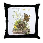 Audubon Eastern Meadowlark Birds Throw Pillow