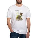 Audubon Eastern Meadowlark Birds (Front) Fitted T-