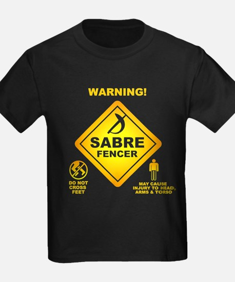 Warning! Sabre Fencer T-Shirt