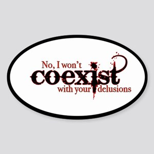 Won't Coexist Sticker