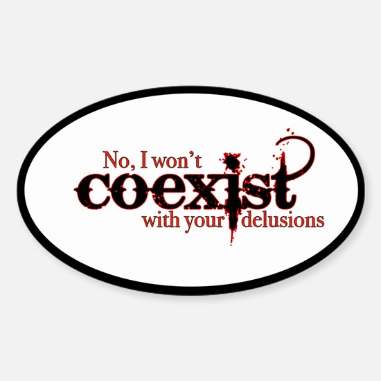 Won't Coexist Decal