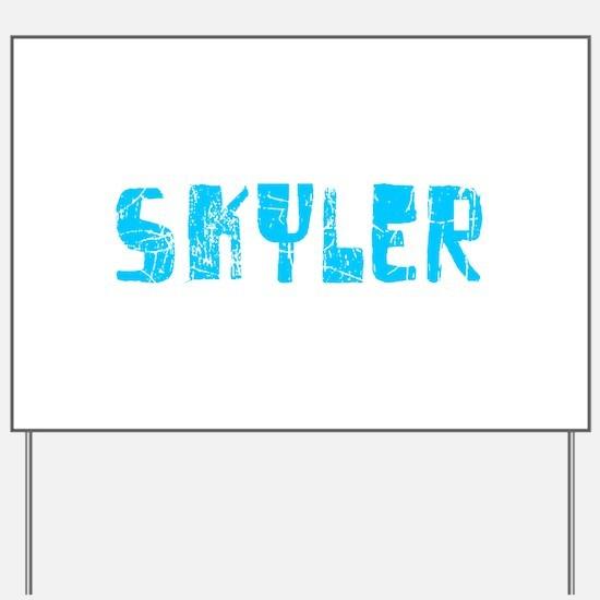 Skyler Faded (Blue) Yard Sign