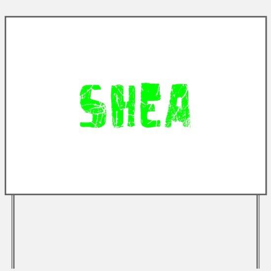 Shea Faded (Green) Yard Sign