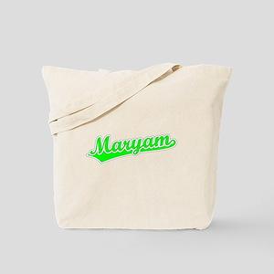 Retro Maryam (Green) Tote Bag