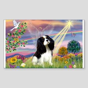 Cloud Angel Tri Cavalier Rectangle Sticker