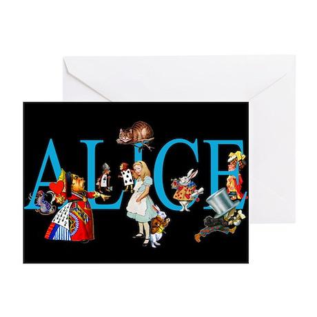 Alice in Black Greeting Cards (Pk of 10)