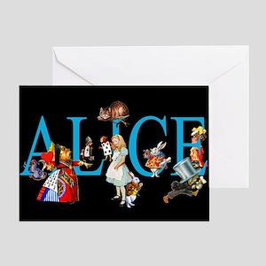 Alice in Black Greeting Card