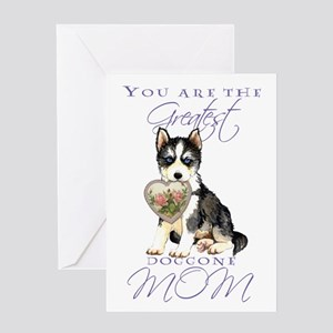 Husky Mother's Day Greeting Card