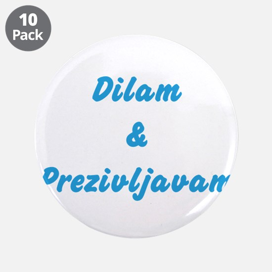 "Dilam 3.5"" Button (10 pack)"