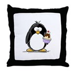 Ice Cream Sundae Penguin Throw Pillow