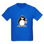 Ice Cream Sundae Penguin Kids Dark T-Shirt