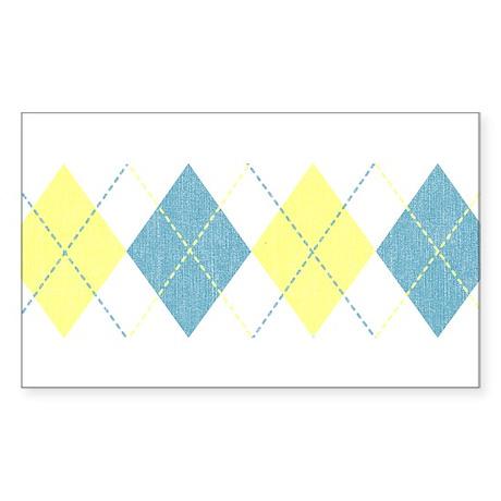 Argyle Business Casual Rectangle Sticker
