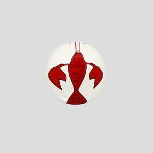 Crawfish Fleur De Craw Mini Button