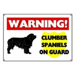 Clumber Spaniels On Guard Banner