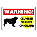 Clumber Spaniel On Guard Banner