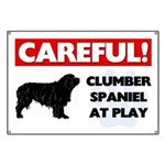 Clumber Spaniel At Play Banner