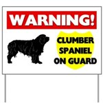 Clumber Spaniel On Guard Yard Sign