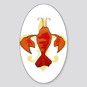 Fleur De Craw Too Sticker (Oval)