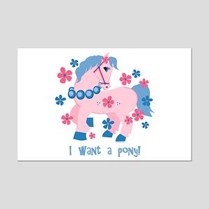 I Want A Pony Mini Poster Print