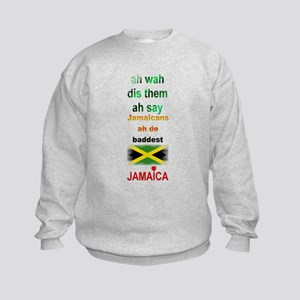 Jamaicans ah de baddest - Kids Sweatshirt