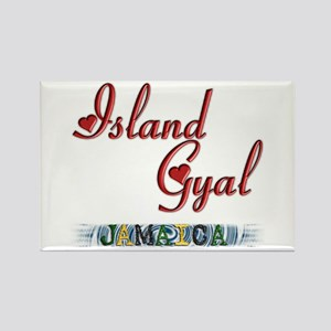 Island Gyal - Jamaica - Rectangle Magnet