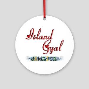 Island Gyal - Jamaica - Ornament (Round)