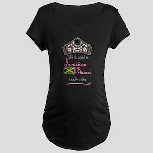 Jamaican Princess - Maternity Dark T-Shirt