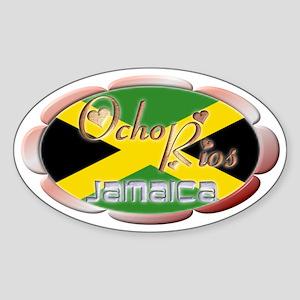Ocho Rios - Oval Sticker