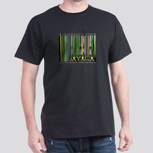 Jamaica, Ind. Date and Motto - Dark T-Shirt