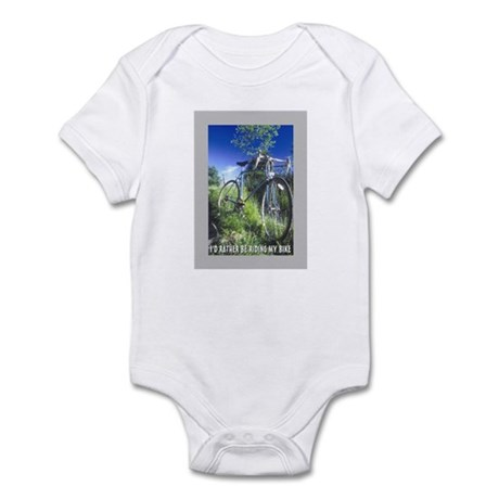 Green Bicycle Infant Bodysuit
