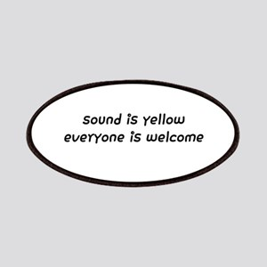sound is yellow everyone is welcome Patch