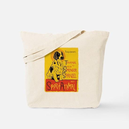 Cute Welsh springer spaniel Tote Bag