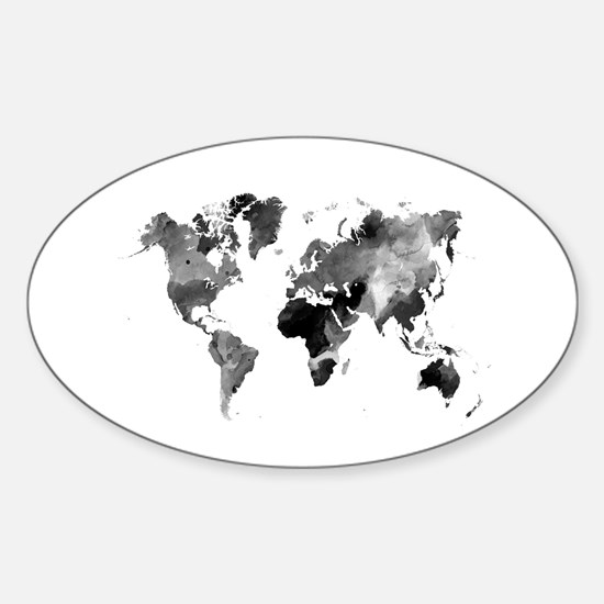 Design 42 World Map Grey Scale Decal